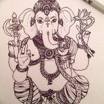 фото Эскизы индийских тату от 09.10.2017 №147 - Sketches of Indian tattoos - tatufoto.com