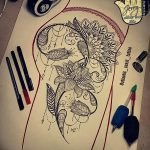 фото Эскизы индийских тату от 09.10.2017 №153 - Sketches of Indian tattoos - tatufoto.com