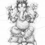 фото Эскизы индийских тату от 09.10.2017 №157 - Sketches of Indian tattoos - tatufoto.com