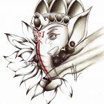 фото Эскизы индийских тату от 09.10.2017 №159 - Sketches of Indian tattoos - tatufoto.com
