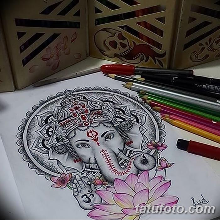 фото Эскизы индийских тату от 09.10.2017 №168 - Sketches of Indian tattoos - tatufoto.com