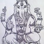 фото Эскизы индийских тату от 09.10.2017 №189 - Sketches of Indian tattoos - tatufoto.com