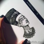 фото Эскизы тату Нефертити от 02.10.2017 №001 - Sketches of Nefertiti - tatufoto.com