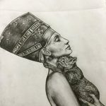 фото Эскизы тату Нефертити от 02.10.2017 №002 - Sketches of Nefertiti - tatufoto.com
