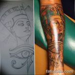 фото Эскизы тату Нефертити от 02.10.2017 №003 - Sketches of Nefertiti - tatufoto.com