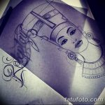 фото Эскизы тату Нефертити от 02.10.2017 №004 - Sketches of Nefertiti - tatufoto.com