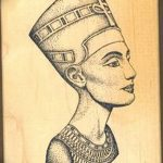 фото Эскизы тату Нефертити от 02.10.2017 №007 - Sketches of Nefertiti - tatufoto.com