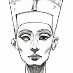 фото Эскизы тату Нефертити от 02.10.2017 №011 - Sketches of Nefertiti - tatufoto.com