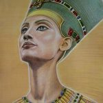 фото Эскизы тату Нефертити от 02.10.2017 №012 - Sketches of Nefertiti - tatufoto.com