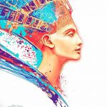 фото Эскизы тату Нефертити от 02.10.2017 №018 - Sketches of Nefertiti - tatufoto.com