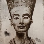 фото Эскизы тату Нефертити от 02.10.2017 №023 - Sketches of Nefertiti - tatufoto.com