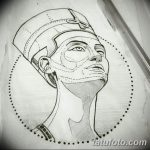 фото Эскизы тату Нефертити от 02.10.2017 №029 - Sketches of Nefertiti - tatufoto.com