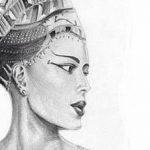 фото Эскизы тату Нефертити от 02.10.2017 №030 - Sketches of Nefertiti - tatufoto.com