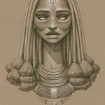 фото Эскизы тату Нефертити от 02.10.2017 №031 - Sketches of Nefertiti - tatufoto.com
