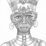 фото Эскизы тату Нефертити от 02.10.2017 №034 - Sketches of Nefertiti - tatufoto.com