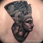 фото Эскизы тату Нефертити от 02.10.2017 №036 - Sketches of Nefertiti - tatufoto.com