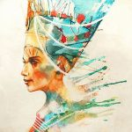 фото Эскизы тату Нефертити от 02.10.2017 №037 - Sketches of Nefertiti - tatufoto.com