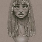 фото Эскизы тату Нефертити от 02.10.2017 №038 - Sketches of Nefertiti - tatufoto.com