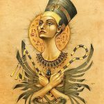 фото Эскизы тату Нефертити от 02.10.2017 №040 - Sketches of Nefertiti - tatufoto.com