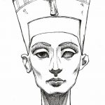 фото Эскизы тату Нефертити от 02.10.2017 №041 - Sketches of Nefertiti - tatufoto.com