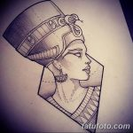 фото Эскизы тату Нефертити от 02.10.2017 №045 - Sketches of Nefertiti - tatufoto.com