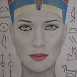 фото Эскизы тату Нефертити от 02.10.2017 №049 - Sketches of Nefertiti - tatufoto.com