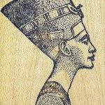 фото Эскизы тату Нефертити от 02.10.2017 №050 - Sketches of Nefertiti - tatufoto.com