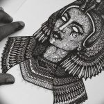 фото Эскизы тату Нефертити от 02.10.2017 №053 - Sketches of Nefertiti - tatufoto.com