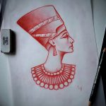 фото Эскизы тату Нефертити от 02.10.2017 №058 - Sketches of Nefertiti - tatufoto.com