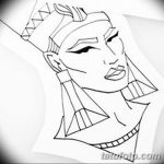 фото Эскизы тату Нефертити от 02.10.2017 №063 - Sketches of Nefertiti - tatufoto.com