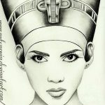 фото Эскизы тату Нефертити от 02.10.2017 №066 - Sketches of Nefertiti - tatufoto.com