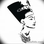 фото Эскизы тату Нефертити от 02.10.2017 №067 - Sketches of Nefertiti - tatufoto.com