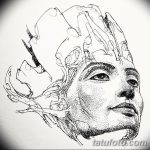 фото Эскизы тату Нефертити от 02.10.2017 №070 - Sketches of Nefertiti - tatufoto.com