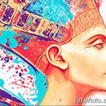 фото Эскизы тату Нефертити от 02.10.2017 №072 - Sketches of Nefertiti - tatufoto.com