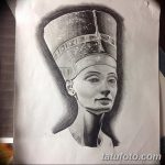 фото Эскизы тату Нефертити от 02.10.2017 №073 - Sketches of Nefertiti - tatufoto.com