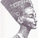 фото Эскизы тату Нефертити от 02.10.2017 №076 - Sketches of Nefertiti - tatufoto.com