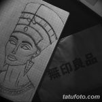 фото Эскизы тату Нефертити от 02.10.2017 №077 - Sketches of Nefertiti - tatufoto.com