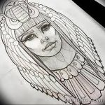 фото Эскизы тату Нефертити от 02.10.2017 №079 - Sketches of Nefertiti - tatufoto.com
