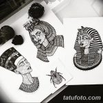 фото Эскизы тату Нефертити от 02.10.2017 №080 - Sketches of Nefertiti - tatufoto.com