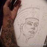 фото Эскизы тату Нефертити от 02.10.2017 №082 - Sketches of Nefertiti - tatufoto.com