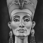 фото Эскизы тату Нефертити от 02.10.2017 №089 - Sketches of Nefertiti - tatufoto.com