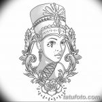 фото Эскизы тату Нефертити от 02.10.2017 №090 - Sketches of Nefertiti - tatufoto.com
