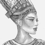 фото Эскизы тату Нефертити от 02.10.2017 №091 - Sketches of Nefertiti - tatufoto.com