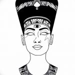 фото Эскизы тату Нефертити от 02.10.2017 №094 - Sketches of Nefertiti - tatufoto.com
