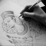фото Эскизы тату Нефертити от 02.10.2017 №096 - Sketches of Nefertiti - tatufoto.com