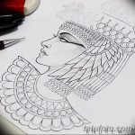 фото Эскизы тату Нефертити от 02.10.2017 №099 - Sketches of Nefertiti - tatufoto.com