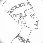 фото Эскизы тату Нефертити от 02.10.2017 №100 - Sketches of Nefertiti - tatufoto.com