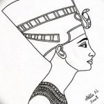 фото Эскизы тату Нефертити от 02.10.2017 №103 - Sketches of Nefertiti - tatufoto.com