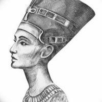 Эскизы тату Нефертити
