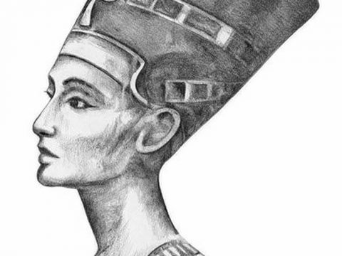 фото Эскизы тату Нефертити от 02.10.2017 №105 - Sketches of Nefertiti - tatufoto.com